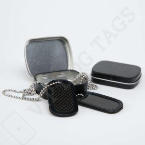 Dárková krabička kovová černá pro Identifikační známky, Gift box for Dog Tags - 653446