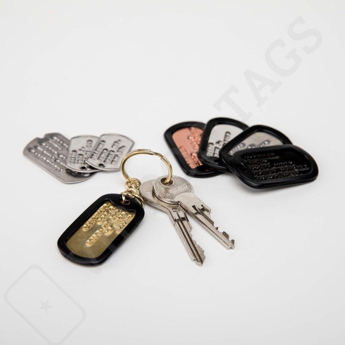 Identifikační psí známka s vlastním textem na klíče, Original US Dog Tags for keys - 10985