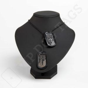 Vojenské identifikační psí známky na krk černé sada, US Military Dog Tag Black set 9803756