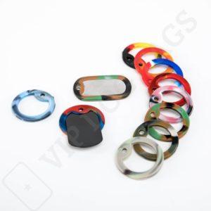Originální Silikonová Tlumítka pro identifikační známky vícebarevné, Dog tags silencers - 636434