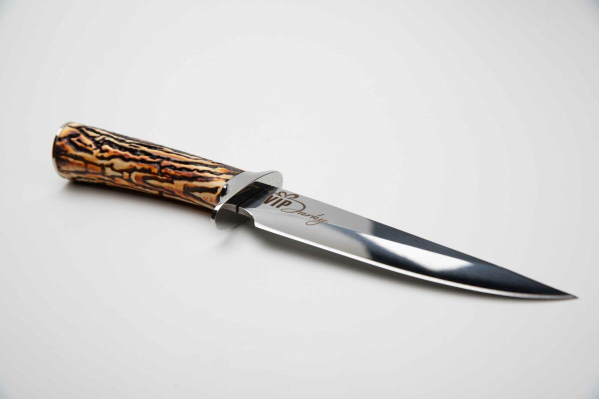 Lovecký nůž s pouzdrem s vlastním textem nebo motivem - imitace paroží, 42432