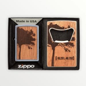 Dárková sada zapalovač ZIPPO WOODCHUCK USA & Otvírák na láhve s vlastním textem nebo logem - 30059